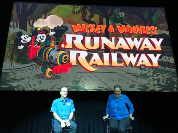 Disney Imagineers are hard at work on the Runaway Railway, where you will enter the cartoon world.