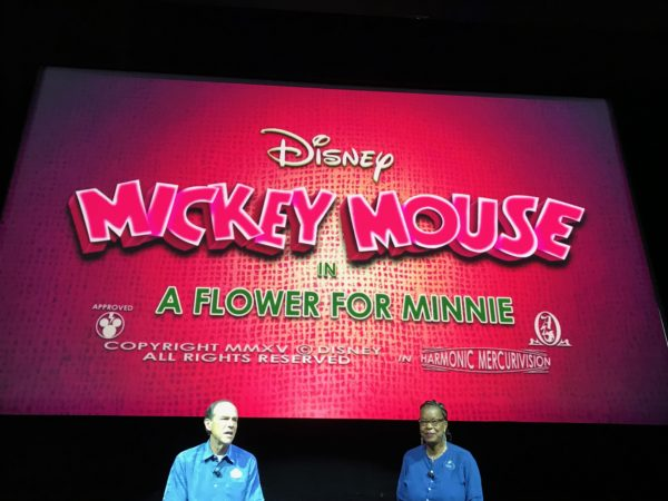 The attraction is based on the zany world of the new Mickey Mouse shorts, like seen in A Flower for Minnie.