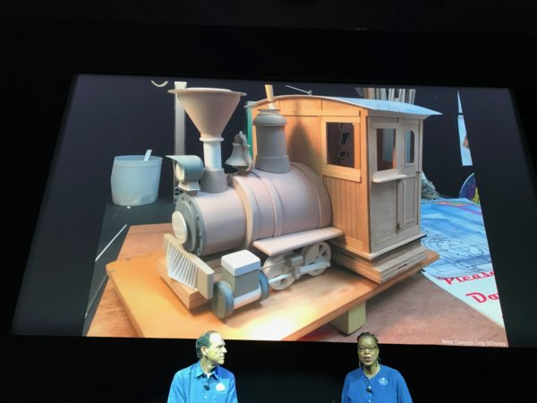 Disney spent lots of time on the details, such as seen in this model of the train ride vehicle.