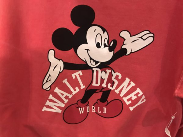 Vintage Mickey appears on these washed sweatshirts!
