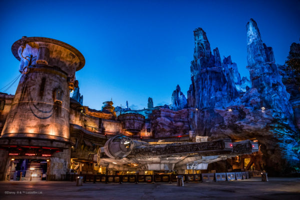 The Falcon looks great at night. Photo credits (C) Disney Enterprises, Inc. All Rights Reserved