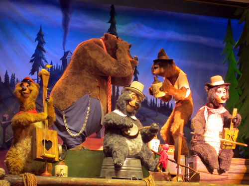 The Country Bear Jamboree is both entertaining and a short wait!