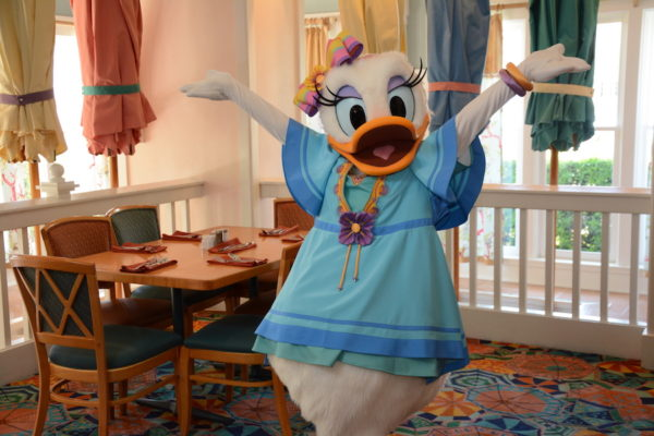 Have breakfast with Daisy and her pals at Cape May Cafe! Photo credits (C) Disney Enterprises, Inc. All Rights Reserved