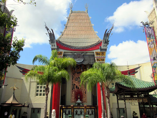 The beautiful Chinese Theater is now obscured by a big hat.