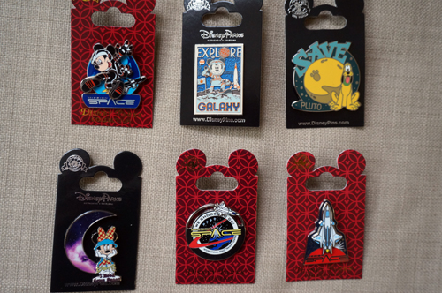 Six awesome pins celebrate the thrills of Mission: Space.