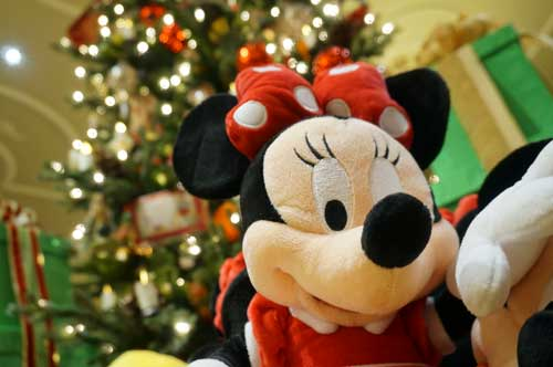 I can't say for certain ,but I think that Minnie Mouse wishes you a very Merry Christmas.