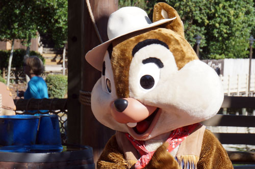 Meet Chip and Dale in Frontierland!