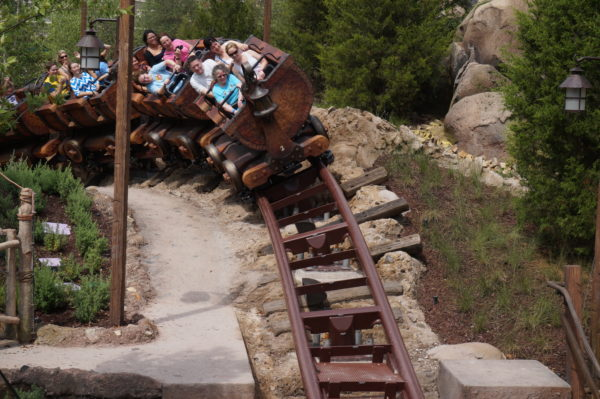 Most kids are more frightened by the 3D witch in Seven Dwarfs Mine Train than the roller coaster ride.