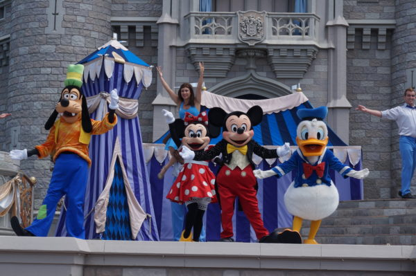 Mickey's Royal Friendship Faire hits the Castle stage a few times a day!