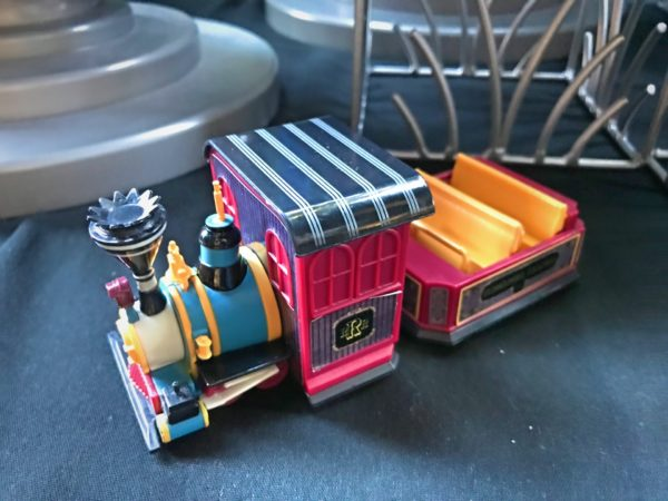 Here's a figurine of the train ride vehicle!