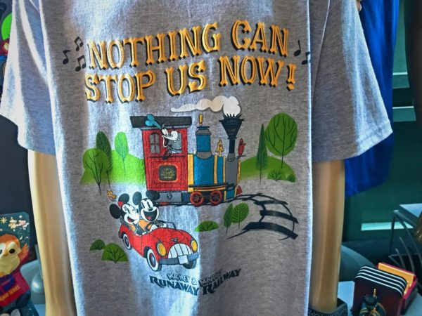 Nothing Can Stop Us Now! Mickey and Minnie's Runaway Railway t-shirt.