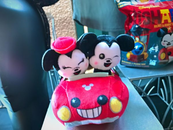 Here's a squishable Mickey and Minnie riding in their car on their way to the Perfect Picnic!