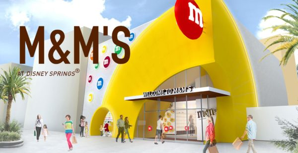 The new Disney Springs M&Ms Store targets a Thanksgiving opening.  Photo credits (C) Mars, Inc. All Rights Reserved