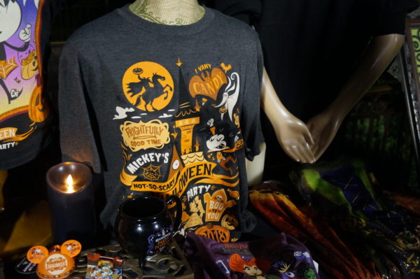 This tee captures everything we love at Mickey's Not So Scary Halloween Party!