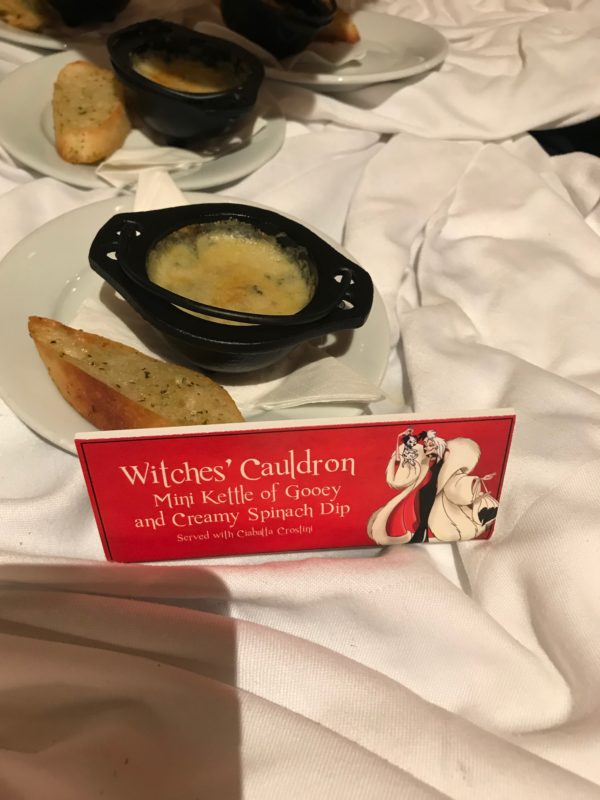Witches' Cauldron - Mini Kettle of Gooey and Creamy Spinach Dip with Crostini
