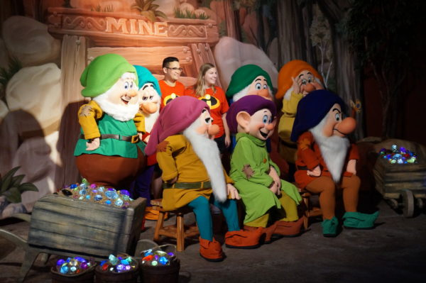 Where else can you meet all seven Dwarfs? I don't know. You will have to wait in a long line to do it, but it is very special.