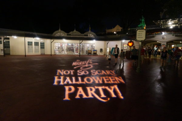 Check out this projection on the sidewalk. These little touches make the party feel special.