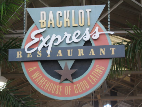 So will Backlot Express.