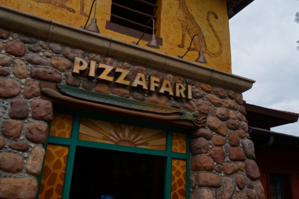 Disney pizza might not be top notch, but it is better when you don't have to wait in line!