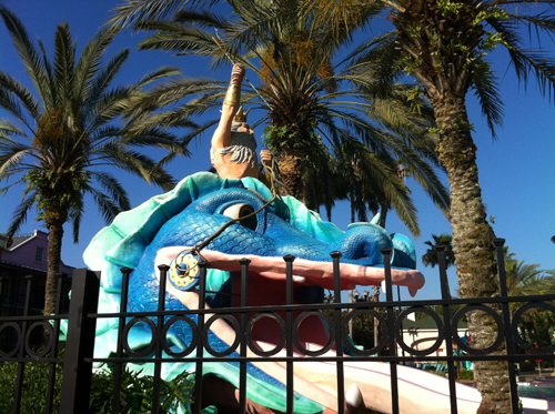 Moderate resorts have water slides where as Value resorts do not.