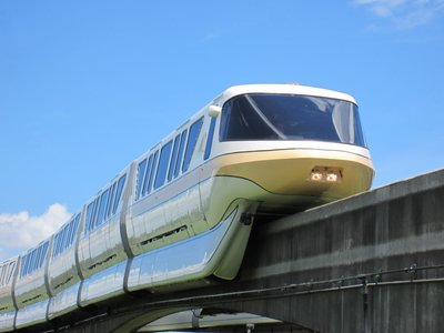 Monorail At Disney World