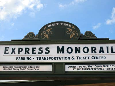 Listing monorail wait times?  Good idea!