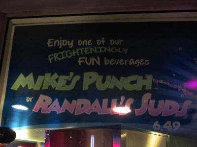 Fun drinks for sale in Tomorrowland.