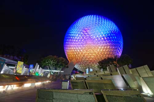 Enjoy a journey through the past together on Spaceship Earth.