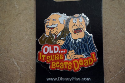 Win this Statler and Waldorf Disney Trading Pin.