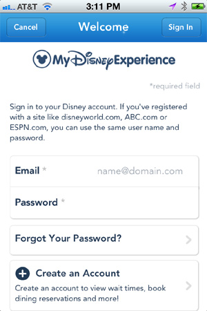 My Disney Experience Log In
