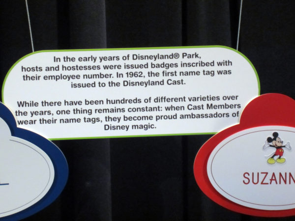 Nametags have always been an important part of the Disney Cast Members' uniforms.