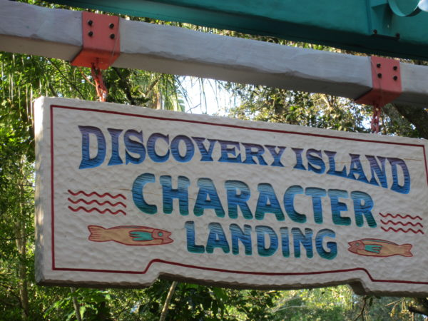 The Discovery Island Character Landing was once the docks for the Discovery River Boats.