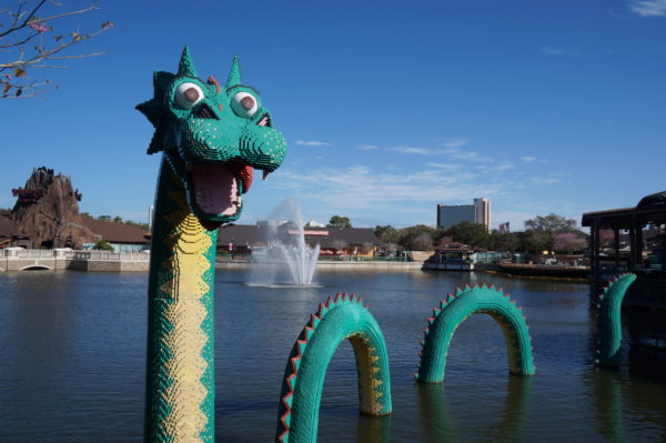 The Nessie of the planned attraction in Animal Kingdom wasn't as friendly looking as the one in Disney Springs.