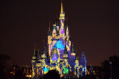 Disney uses a lot of projection mapping technology in the parks.