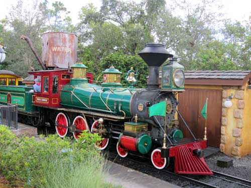 The new Storybook Circus train station provides a convenient way to get to Main Street USA or Frontierland.