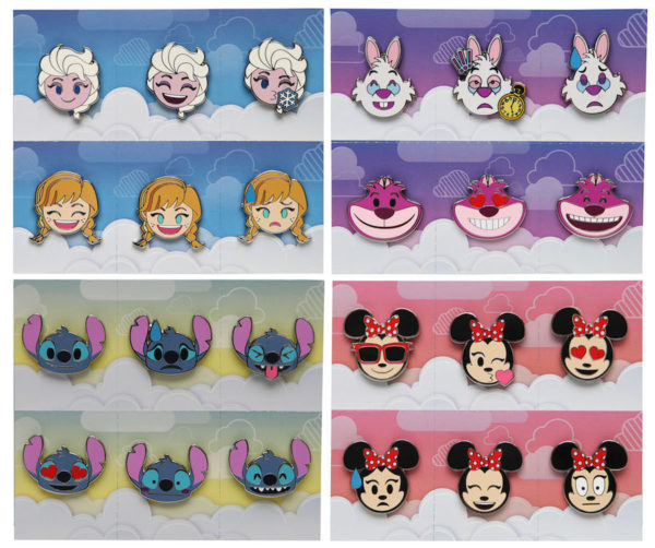 The Disney emoji pins give Disney characters emotions. They're lots of fun! Photo credits (C) Disney Enterprises, Inc. All Rights Reserved
