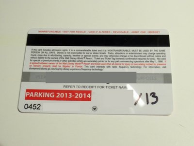 The back of the new annual passes includes a magnetic strip.