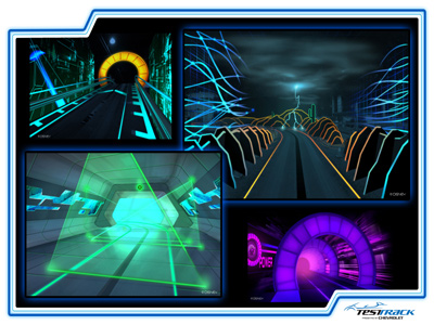 Test Track will combine a physical ride with the concept of a digital design. Photo credits (C) Disney Enterprises, Inc. All Rights Reserved