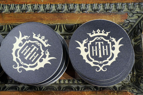 Lots of great new merchandise like these coasters with the hotel logo.
