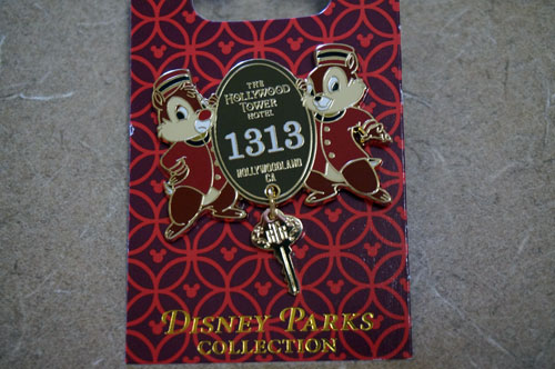 Tower of Terror pin with Chip and Dale.