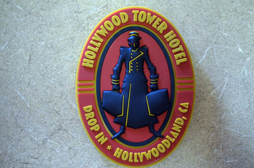 Hollywood Tower Hotel magnet.