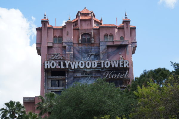 The ominous Hollywood Tower Hotel will disappear as it is used as a projection mapping screen for a fun Christmas show!