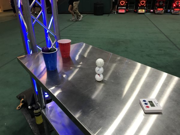 Stacking three golf balls on top of one another - impossible?  Nope! The Cast Member did it - after two hours of practice with limited crowds to manage.