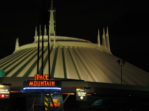 You can see more when you ride Space Mountain at night.
