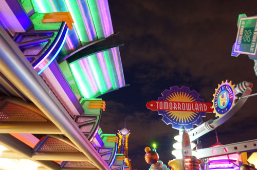 The TTA allows you to see the lights of Tomorrowland in style.