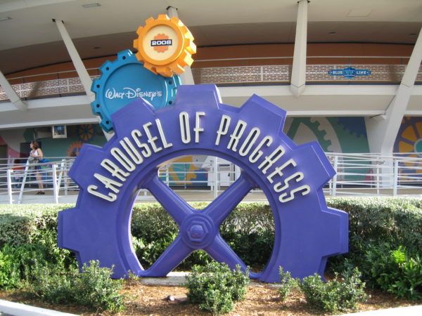 The Carousel of Progress is a very large theater, so you'll hardly ever wait more than the length of the show.