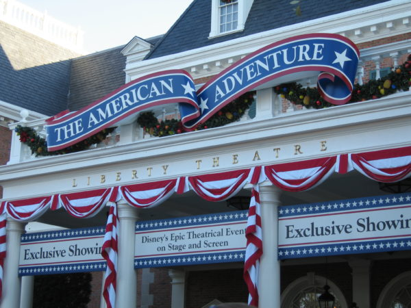 The American Adventure is also a show, and there's hardly ever a wait beyond just one show.