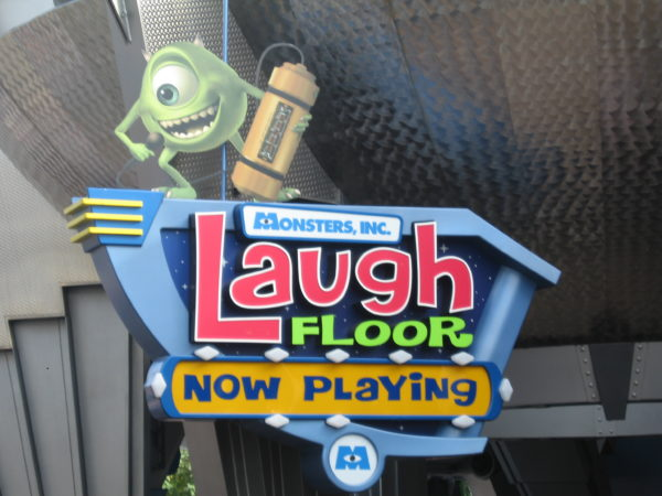 Monsters, Inc. Laugh Floor can get pretty busy, but the theater holds a lot of people, so you'll hardly ever have to wait more than 10 minutes.