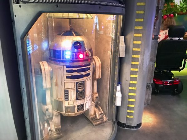 Disney Dream has an R2D2, and Disney Fantasy has a BB-8.