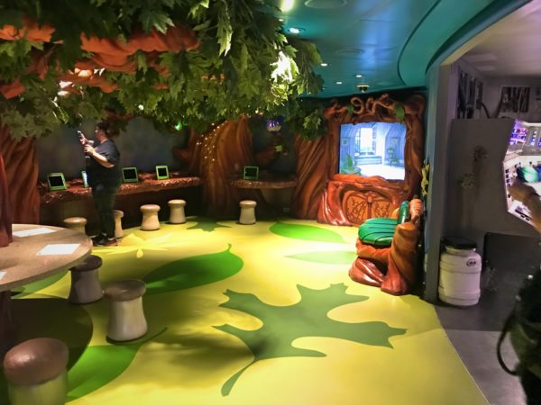 Activities in Pixie Hollow include story time, drawing, and movies.